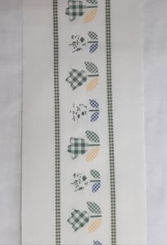 Greca tela flor verde - 3