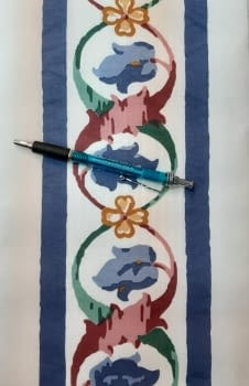Greca floral azul