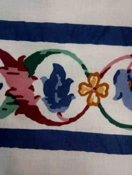 Greca floral azul - 5