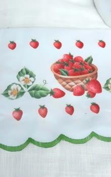 Greca fresas verde - 2