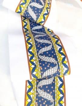 Greca azul amarilla