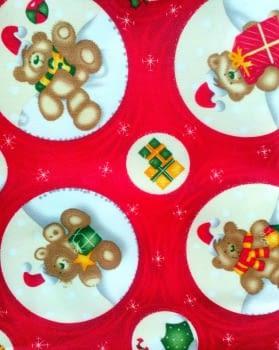 Mantel Navidad ositos 150 x 200