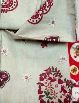 Mantel Navidad corazones 150 x 200