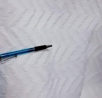 Piqué blanco zig zag - 5