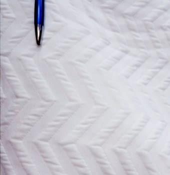 Piqué blanco zig zag - 6