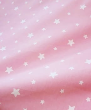 Tela cretona estrellitas rosas 280