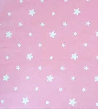 Tela cretona estrellitas rosas 280 - 1