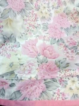 Faldilla redonda raso flores - 1
