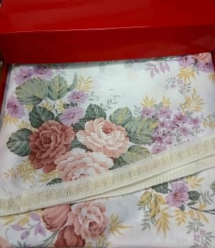 Faldillas raso flores - 4