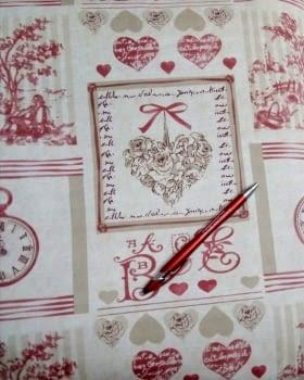 Hule textilfy toile de jouy - 1