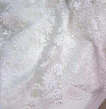 Tela blonda blanca 50 cm