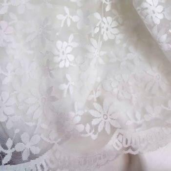 Tela blonda blanca 50 cm - 1