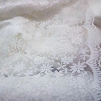 Tela blonda blanca 50 cm - 2