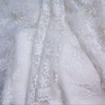 Tela blonda blanca 50 cm - 3