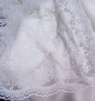 Tela blonda blanca 50 cm - 4