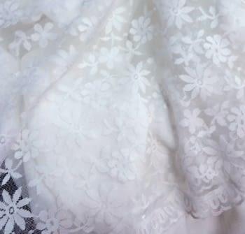 Tela blonda blanca 50 cm - 5