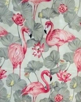 Tela pájaros flamencos 140