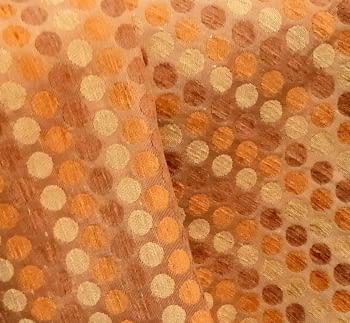 Tela Tapicería círculos naranja