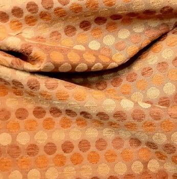 Tela Tapicería círculos naranja - 3