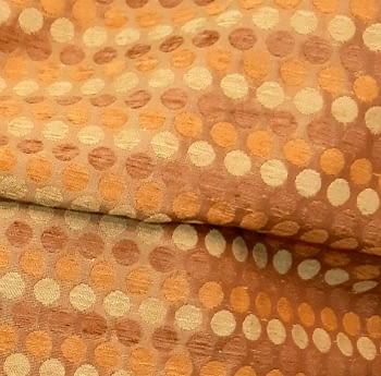 Tela Tapicería círculos naranja - 4