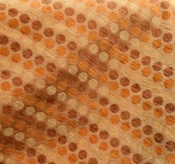 Tela Tapicería círculos naranja - 5