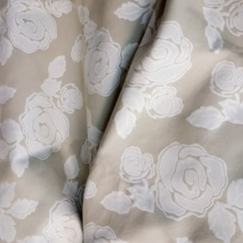 Tela flores beige 280 - 1