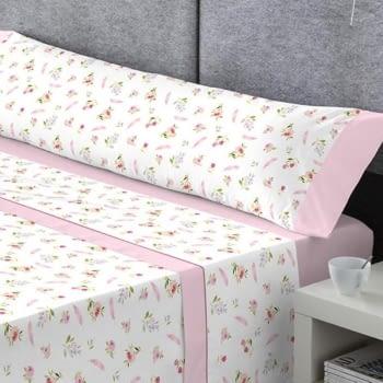 Juego de sábanas rosa