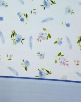 Juego de sábanas flores azul - 1