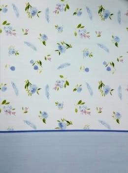 Juego de sábanas flores azul - 2