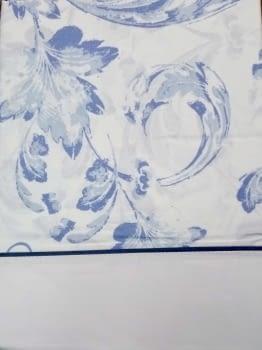 Juego de sábanas adamascado azul - 1