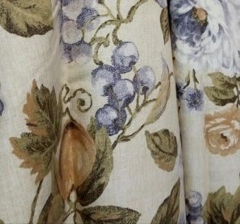 Tela cretona flores lilas - 1