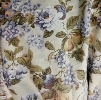 Tela cretona flores lilas - 2