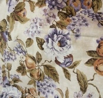 Tela cretona flores lilas - 3