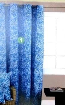 Cortina Spring azul
