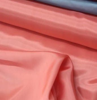 Tela Forro seda rosa coral - 1