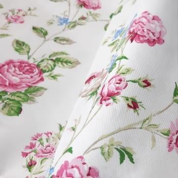 Cretona flores rosas 280 - 1