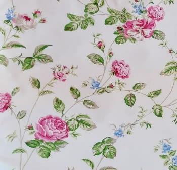Cretona flores rosas 280 - 2