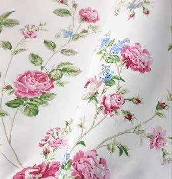 Cretona flores rosas 280 - 3