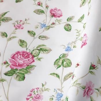 Cretona flores rosas 280 - 5