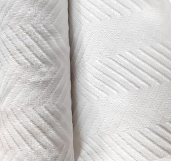 Piqué blanco espiga - 2