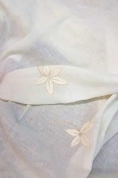 Tela visillo rústico flor