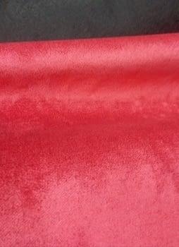 Tela terciopelo rojo frambuesa