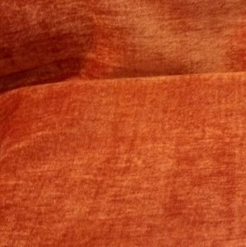 Tela chenilla naranja caldero
