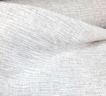 Tela chenilla blanco topo - 6