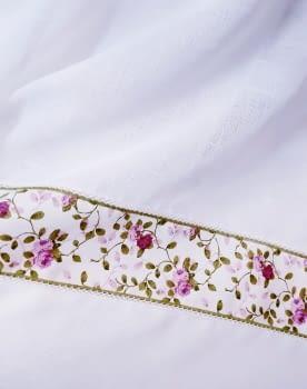 Tela visillo cenefas flores - 4