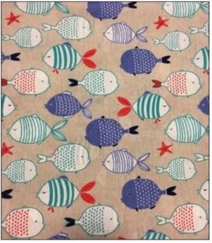 Tela peces turquesas 280