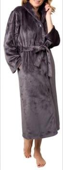 Bata gris tacto muflón