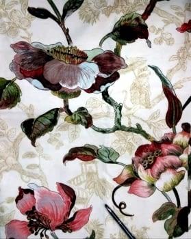 Tela flores Japón 280