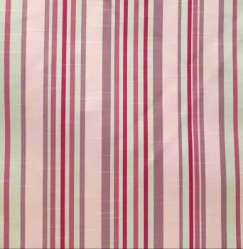 Tela cretona rayas rosas 280