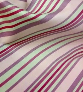 Tela cretona rayas rosas 280 - 5